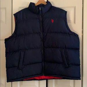 Men's Polo vest. Navy. 3XL